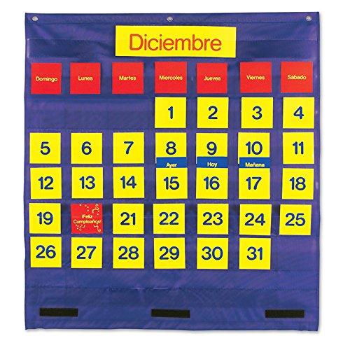 LEARNING RESOURCES BILINGUAL MONTHLY CALENDAR POCKET (Set of 6)