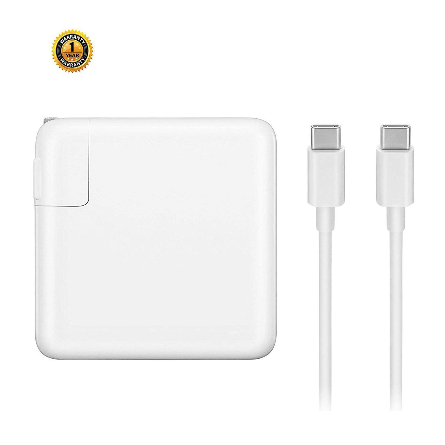 Vanfast 61W USB-C Charger, Replacement for Mac Book Pro with 13'' After 2016 and Mac Book Air 2018,Compatible with Samsung,Nexus,Nintendo Switch,Lenovo,ASUS,Acer,Dell Loptop with Type-C Charge Cable