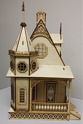 Melody Jane Dollhouse Jasmine Gothic Cottage Dolls House 1:24 Lazer Cut Flat Pack Kit by Melody