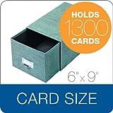 Globe-Weis Index Card Storage Drawer Case, 6 x 9