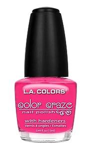L.A. Colors Craze Nail Polish, Absolute, 0.44 Fluid Ounce
