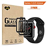 Apple Watch Screen Protector 42mm, VPR [Full Coverage] Tempered Glass Screen Protector [Anti-Scratch] [High Definition] [Bubble Free] for Apple Watch 38mm Series 1/2/3 (Apple Watch 42mm 2PC)