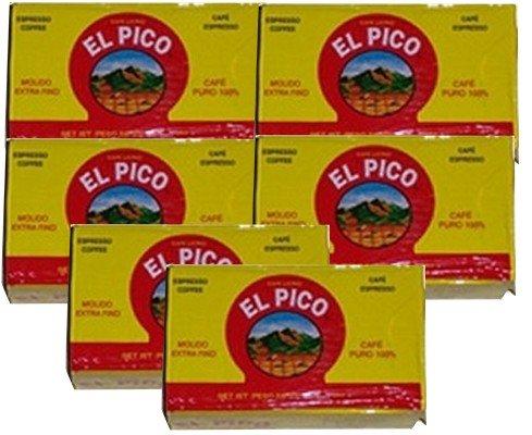 Cafe El Pico 6 PACK Dark Roasted Ground Coffee 6 x 284 g