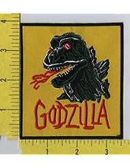 Godzilla Monster Square Iron on Patch sm