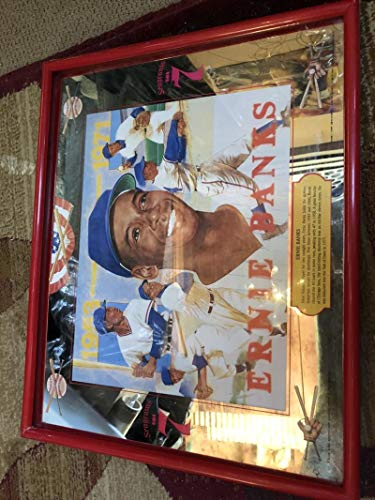 Ernie Banks Chicago Cubs Bar Mirror Seagram's 7 Crown Whiskey Seagrams 16x20 Man Cave Decoration