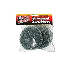 Tool Wizard BBQ Brush Replacement Scrub Pads, Tool Wizard Grilscb1 and Toolwiz Replacement Stainless Steel Scrubbers, Grill Brush Scrub Pads for Grill Brush Work Better Than Bristle Brushes