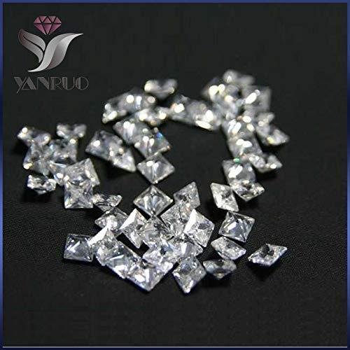 (Kamas Glitter shiny #4447 500pcs 3mm unfoiled Square White Shiny Cubic Zirconia Stone Diamond Diamant Gems nails Square Rhinestones - (Color: white 500pcs))