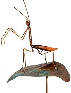 product image for Modern Artisans Copper Praying Mantis Garden Sculpture & Stake, American Made