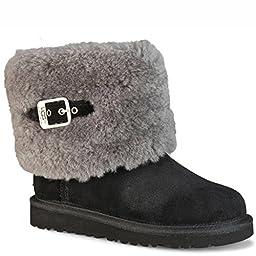 UGG Australia Infants\' Ellee Shearling Boots,Black