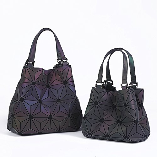 Small Style Plain Folding Bags D Quilted Style Shoulder a Big Geometry Tote Laser Briefcase Handbags xwzqPYSn