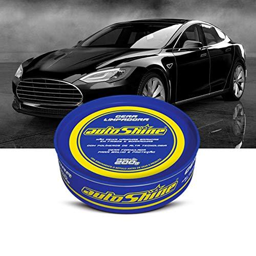 Cera Limpadora Azul 200g com Blister/Esponja Autoshine