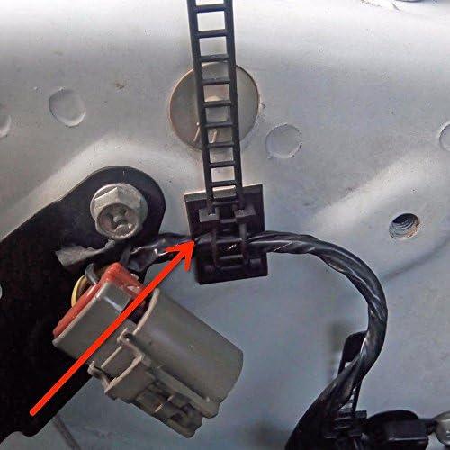 20/pi/èces /Adh/ésif c/âble Colliers de serrage Festive Ornaments 3/m Self/ C/âble r/églable Clips de fixation clips de fils avec en option Fixation /à vis pour voiture Multi C/âbles