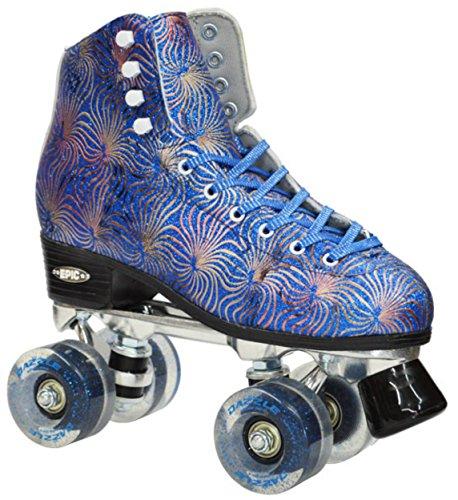 Epic Skates Dazzle07 Quad Roller Skates, Blue