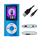 MYMAHDI-Digital-Compact-and-Portable-MP3-MP4-Player-Max-support-64-GB-Micro-SD-Card-with-Photo-Viewer-E-Book-Reader-and-Voice-Recorder-and-FM-Radio-Video-Movie-in-Dark-Blue