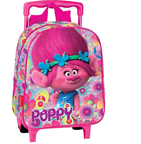 Trolls Poppy Trolley Rucksack 28x24 x11 Kindertrolley (1)