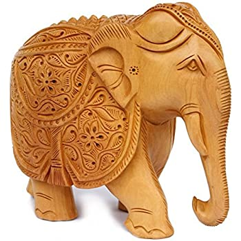 Amazon.com: SouvNear Intricate Hand-Carved 8 Inch Royal Elephant ...