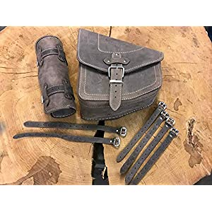 Leather,Large Capacity Luggage Tail Package Saddle Bags Storage Tool Pouch Left Right ,Motorcycle Side Bag Tool Bag Ideal For Long Distance Riding Armygreen MOOHOP Motorbike Bag Waterproof Canvas