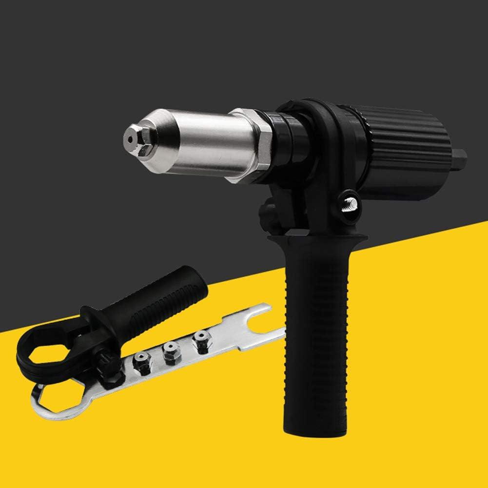 Electric Cordless Rivet Machine Riveting Tool Drill Driver Adapter Accessories hudiemm0B Rivet Machine
