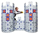 Battle Bunkers (4 Pack) by Blaster Boards | Barricade Building & Target Practice Set | 184 Piece Kit