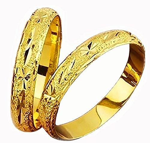 24k Bangle - Devastating Designs 24k Gold Filled Womens 10mm Wide 7-1/4