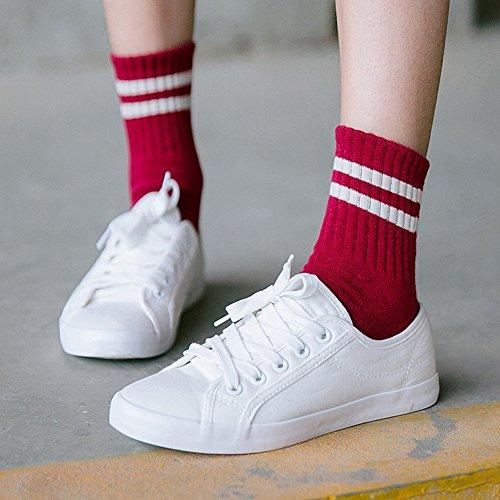 Cybling Kvinna Tillfälliga Spets-up Mode Plattform Sneakers Utomhus Promenadskor Skor