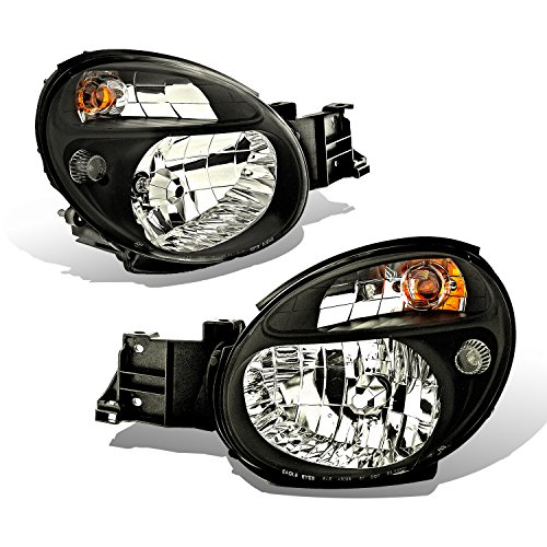 Subaru Impreza Headlight Replacement - SPPC Crystal Headlights Black Assembly Set For Subaru Impreza - (Pair) Driver Left and Passenger Right Side Replacement Headlamp