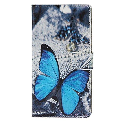 Mxnet Púrpura patrón de flores caja de cuero con el titular y las ranuras de tarjeta para uno más uno Fundas ( SKU : S-MLC-0520N ) S-MLC-0520E