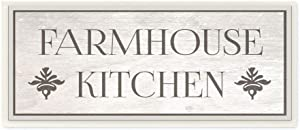 The Stupell Home Décor Collection Farmhouse Kitchen Typography Wall Plaque Art, 7 x 17