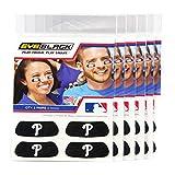 (24 Strips) Eye Black - Philadelphia Phillies MLB Eye Black Anti Glare Strips, Great for Fans & Athletes on Game Day