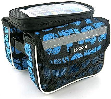 """自転車バッグ 自転車トップチューブバッグ フレームバッグ 耐震性の耐震性の耐水性がある水バイクフレーム袋は電話袋を含みます 適用 旅行/アウトドア/スポーツ/遠足など (Color : Blue, Size : 7.22"""")"""