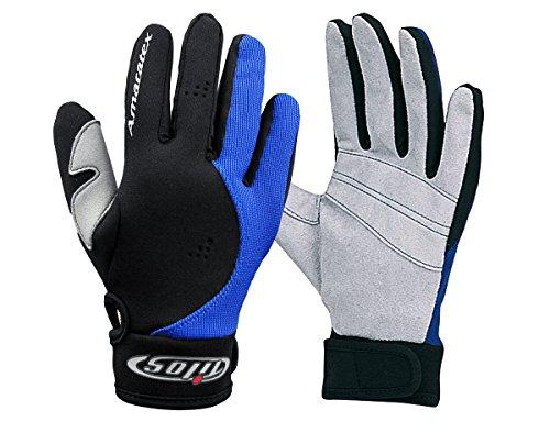 Tilos 1.5mm Amara Palm Mesh Tropical Gloves Black/Blue, (Divers Glove)