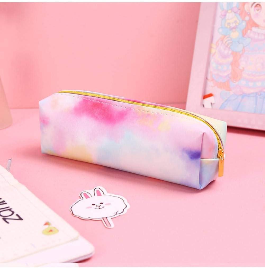 ZLJNN Kawaii Pencil Case Colorful Pink Make Up Gift Estuches ...