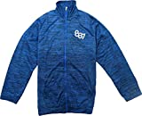 Abito wind breaker sports jacket with net inside for boys full sleeve melange blue 30