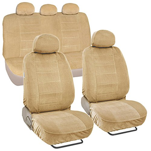 BDK Fine Velour Car Seat Cover Set, Encore (Encore Velour)