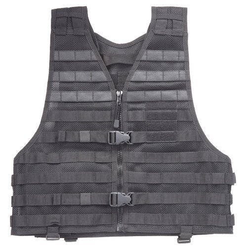 5.11 LBE Vest Black, Regular (5.11 Tactical Nylon Vest)