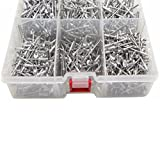Simply Silver - 1000pc 1/8'' Aluminum Blind Pop Rivet Assortment 4 Hand/Air Riveter Gun Rivet Set