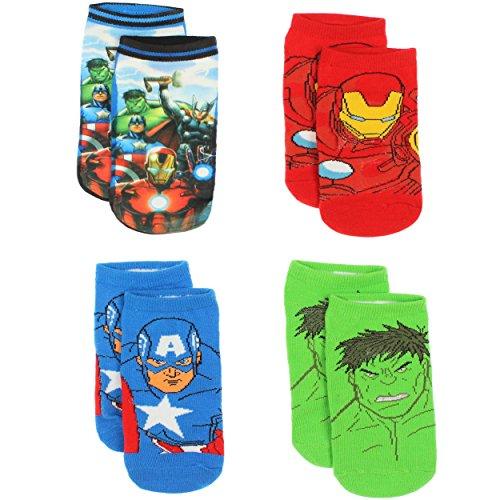 [Avengers Boys 4 Pack Socks (6-8 Boys (Shoe: 10.5-4), Avengers Multi)] (Avengers Superhero)