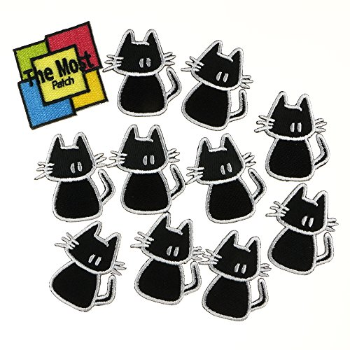 [Lot of 11 (10+1) Cute Cat Puppy Cartoon DIY Logo Embroidered Iron / Sew On Patch] (Cute Kid Halloween Songs)