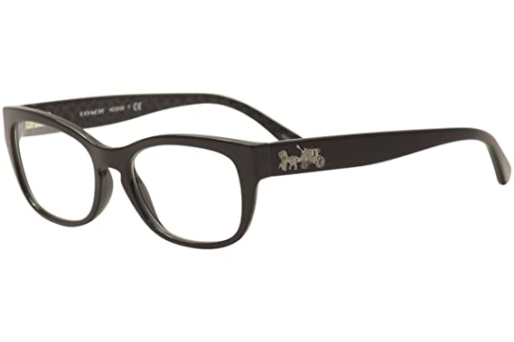 422d6fc3cc285 Coach Women s HC6104 Eyeglasses Black Black Gunmetal Sig C 52mm at Amazon  Women s Clothing store