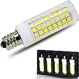 [5-Pack] E12 Led Bulb Candelabra Light Bulbs 8W, 100W (850LM) Equivalent Ceiling Fan