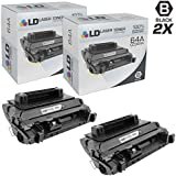 LD Products Remanufactured Toner Cartridge Replacement for Hp 64A ( Black , 2-Pack )