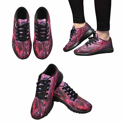 InterestPrint Nebula Womens Jogging Running Sneaker Lightweight Go Easy Walking Shoes Multi 1 BEtGDn00