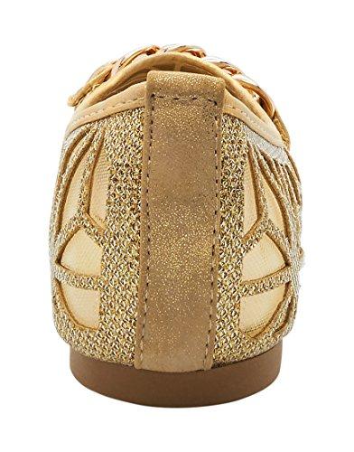 London Footwear ,  Damen Ballett Gold