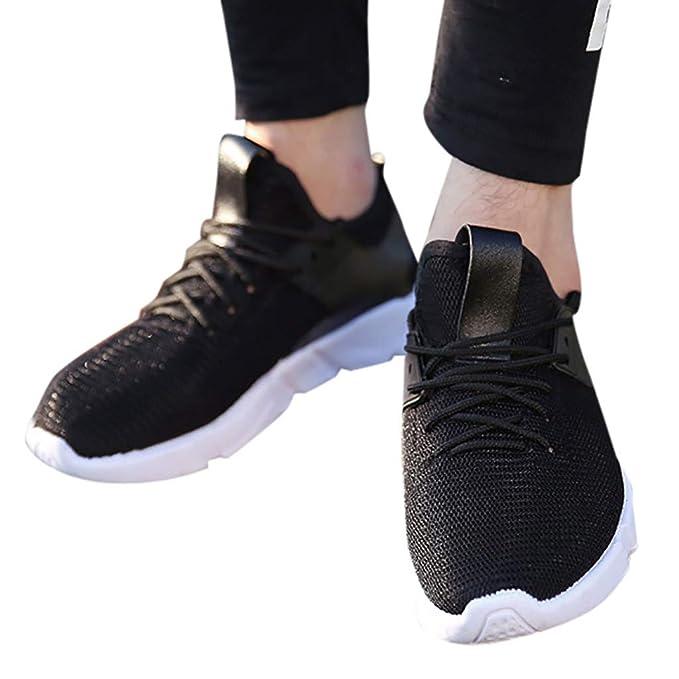 Btruely Zapatillas de Deporte Tejidas Casuales de Hombres con Tendencia Transpirable Zapatillas de Correr versátiles Zapatillas Running Deportivas Hombre ...