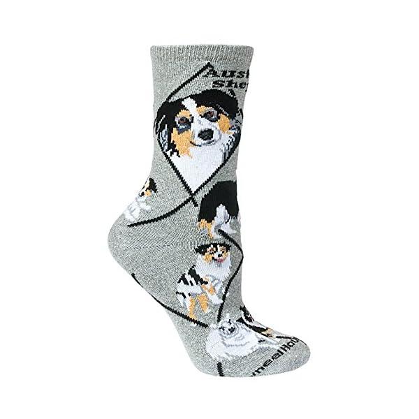 Wheel House Designs Australian Shepherd Women's Argyle Socks (Shoe size 6-8.5) 1