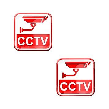 2 X Aufkleber 3d Gel Silikon Stickers Uberwachungskamera Cctv Kamera