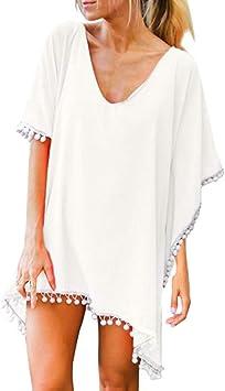 Costura Color de ContrasteTops de Mujer Ronamick Lunares O Cuello Camisetas Yoga Mujer Blusa Blanca Lunares O Cuello Camisa Transparente Mujer(Blanco,Una talla): Amazon.es: Iluminación