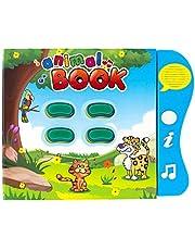 Libro de Sonidos Boxiki Kids para el Aprendizaje de los Animales en Inglés por Libro de Actividades para el Desarrollo de Niños Pequeños y Bebés. Libro Electrónico de Animales.