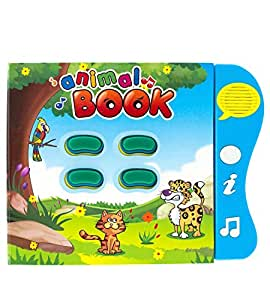 Boxiki kids Libro de Sonidos Aprendizaje de los Animales en Inglés por Libro de Actividades para el Desarrollo de Niños Pequeños y Bebés. Libro Electrónico de Animales.