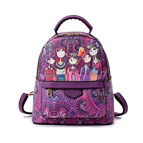CM 25 PU Purple Sac épaule Mode Double Main Sac Mlle Rouge 13 Violet Vert F69 ANLEI à 22 wH4Bqan